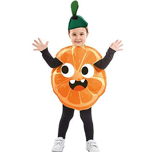 Mädchen Kostüm Himbeer - EUROCARNAVALES Kinder Kostüm Früchtchen 3-4 Jahre Frucht-Verkleidung Obst (Orange)