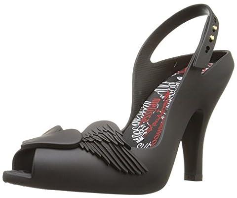 Vivienne Westwood Women's Lady Dragon Dress Pump, Black Flocked, 7