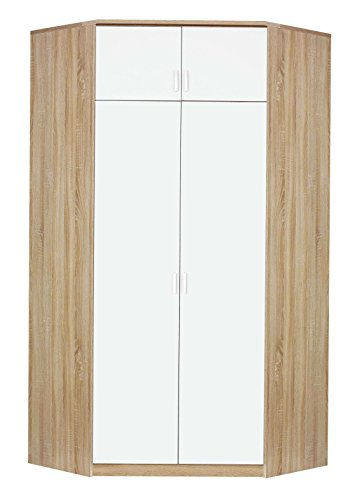 Avanti trendstore royan - armadio/guardaroba ad angolo 2 ante, quercia sonoma/biancoalpino