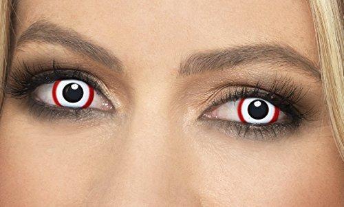 Damen Herren Erwachsene rot weiß Horror unheimlich Vampir DEVIL GHOST unheimlich Halloween Kostüm Schutzbrille