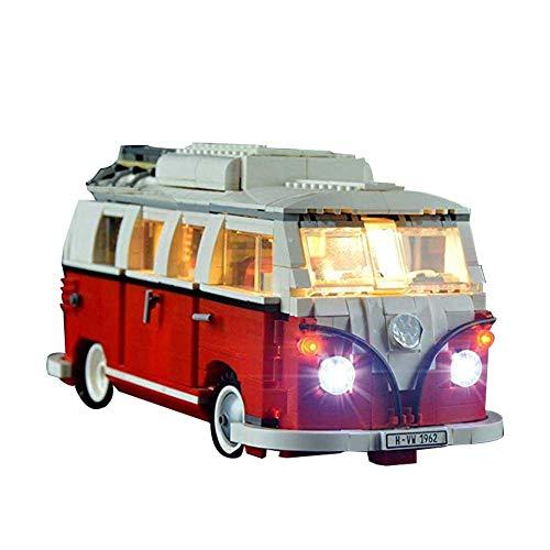 LED Beleuchtung Licht-Set für den LEGO 10220 Volkswagen Camper verfügbar LED-Beleuchtungsset DIY Leuchtende Bausteine Zubehör (Modell Nicht Enthalten) (Licht-lego-bausteine)