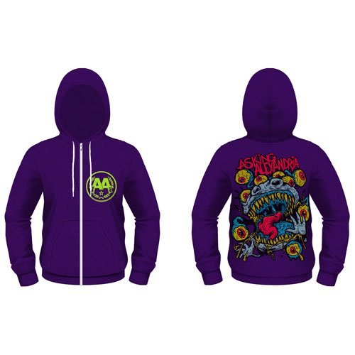 Price comparison product image Asking Alexandria Eyeballs Hooded zip mixed lilac M