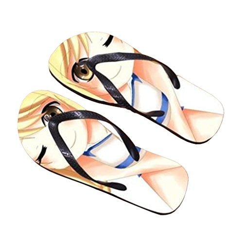 Bromeo Fairy Tail Anime Unisexe Flip Flops Tongs 17