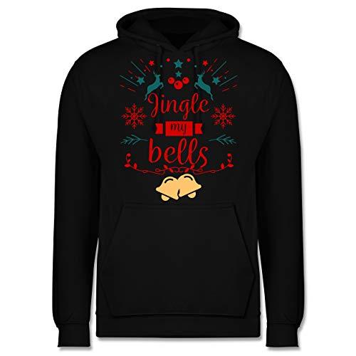 (Weihnachten & Silvester - Jingle My Bells - M - Schwarz - JH001 - Herren Hoodie)
