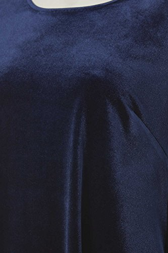 Roman Originals Damen Marine Blau Samt Swing Top Blau