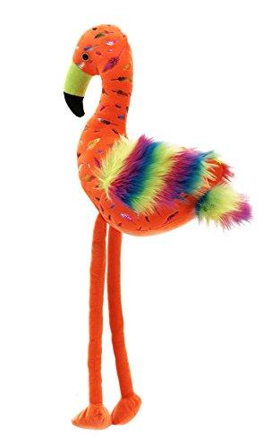 LLPS Jumbo Riese Plüsch Fluoreszierende Orange Flamingo, Regenbogen -