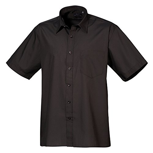Premier Short sleeve poplin shirt Black