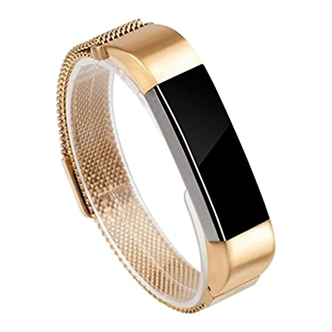 Strap for Fitbit Alta, Wearlizer Milanese Loop Band Replacement Metal