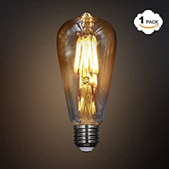 princeway vintage stil st64 8w led filament gl hbirne antike lampen mit e27 schraubsockel. Black Bedroom Furniture Sets. Home Design Ideas