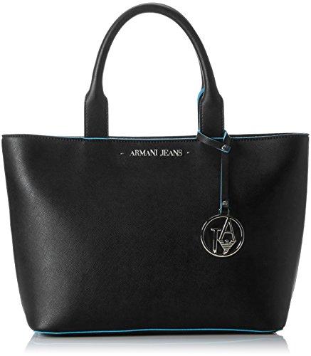Armani Jeans Borsa Shopping - Borse a secchiello Donna, Schwarz (Nero), 24x12x38 cm (B x H T)