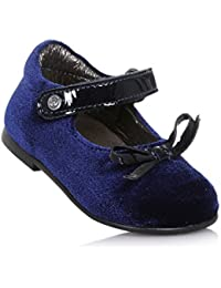 Naturino Ballerina Blu in Velluto e Vernice, Ideale per Il Primo Passo e per Il Gattonamento, Bambina, Ragazza