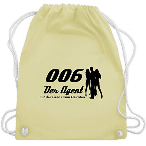 JGA Junggesellenabschied - 006 der Agent - Unisize - Pastell Gelb - WM110 - Turnbeutel & Gym Bag (Sport Agent Kostüm)