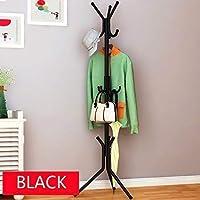 Sterling Coat Hanger Stand for Home Wrought Iron Racks Standing Coat Rack for Hanging Clothes Shelves 6 Hook Coat Hanging Stand Black Color