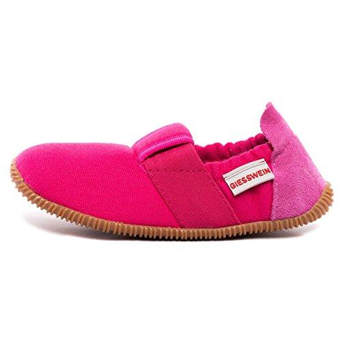 Giesswein Unisex-Kinder Söll-Slim Fit Flache Hausschuhe, Pink (365 / Purpur), 33 EU