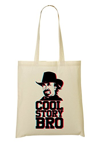Cool Story Bro | Cool Phrases | Texas Ranger | Happiness | Colorful | New Era | Thoughts | Simple | Shape Tragetasche Einkaufstasche -