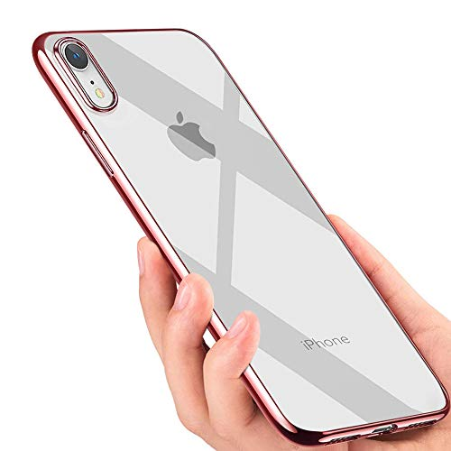 iPhone XR Handyhülle , otutun Crystal Schutzhülle iPhone XR Silikon Hülle Ultra Dünn Stoßfest Anti-Scratch TPU Bumper Case für iPhone XR Case Cover - Rose Gold
