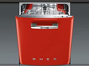Smeg ST2FABR2 Undercounter 13place settings A+++ dishwasher - dishwashers (Undercounter, Red, Stainless steel, Buttons, Stainless steel, 13 place settings)