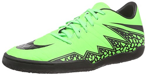 Nike  Hypervenom Phelon II IC, Chaussures de Football homme Vert - Grün (Green Strike/Black/Black)