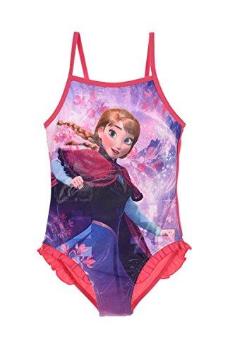 Disney Frozen Anna Elsa Mädchen Bademode (Fuchsie , 5 Jahre)