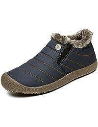 SINOES Zapatillas de Camping y Acampada para Hombres Zapatos de Senderismo Montaña Calzado de Trekking Impermeable