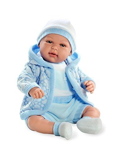 Arias - Muñeca bebé Mies, mecanismo de lloro magnético, color azul, 45 cm (65144)