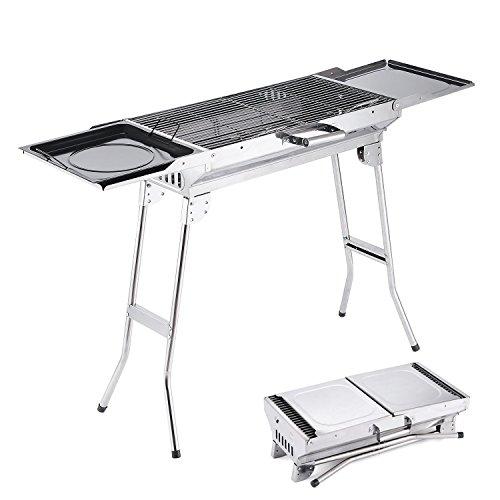 Camp soluzioni griglia per barbecue in acciaio INOX, griglia per barbecue a carbone, pieghevole e portatile per esterni, un regalo perfetto per gli amanti del barbecue