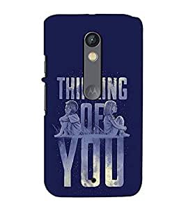 Fuson Designer Back Case Cover for Motorola Moto X Play (Thinking of you theme)