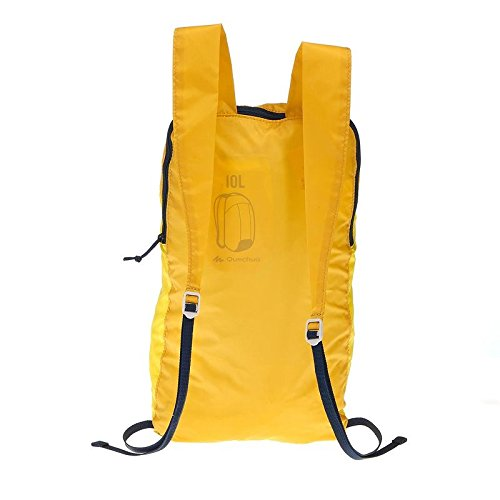 Quechua 8348926 Arpenaz 10 Ultra Compact Hiking Backpack, Junior (Yellow) Image 2