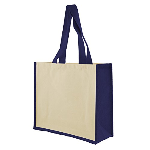 Shugon - Veranasi - Borsa Shopping Naturale/Blu navy