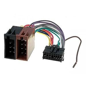 cable faisceau connecteur iso pioneer autoradio 16 pins. Black Bedroom Furniture Sets. Home Design Ideas