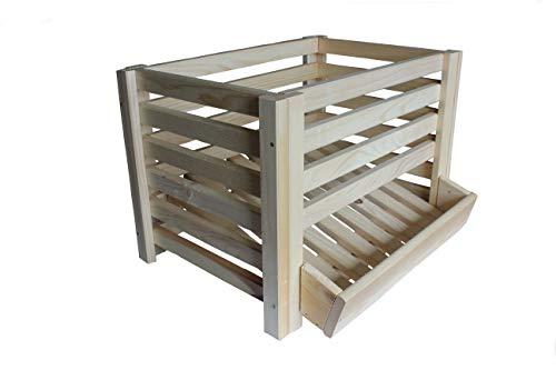 Kartoffelhorde für 50kg Kartoffeln lagern Kartoffelbox Kartoffelkiste Holz