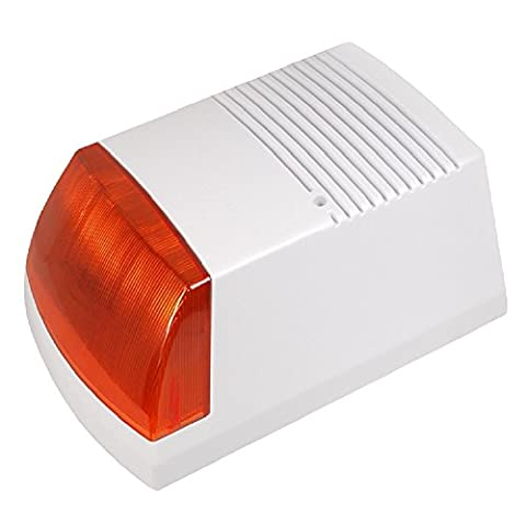 Factice Solaire de Alarme factice avec flash alarme Sirène alarme