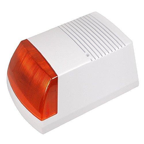 Maclean   Dc3300   Sirena de Alarma simulada con diodos led Intermitentes con Panel Solar