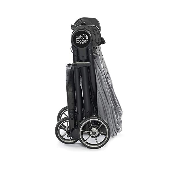 Baby Jogger City Tour LUX Compact Fold Reversible Stroller, Slate Baby Jogger The city tour lux and has a reversible from-birth seat unit for rear or forward travel Features an ultra-compact one hand fold and auto-lock when folded, allowing you to fold and go quickly. includes a carry bag and integrated carry strap a for easy transport With a flip flop friendly hand brake, lightweight and durable pu tyres and all wheel suspension to help keep mum and baby comfortable on many terrains 7