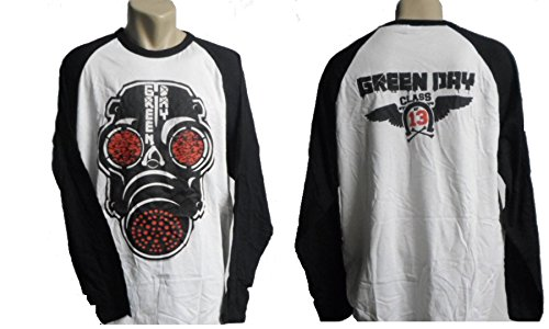 Green Day - Gas Mask Band Longsleeve (Gr. (Gas Green Mask)