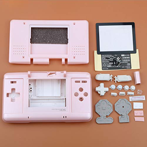 Boîtier de Remplacement Complet de boîtier + kit de Boutons de Tournevis pour Console Nintendo DS NDS Rose
