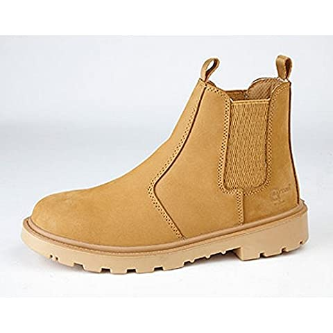 Grafters Mens Grinder Safety Twin Gusset Leather Dealer Boots (6 UK) (Honey Nubuck)