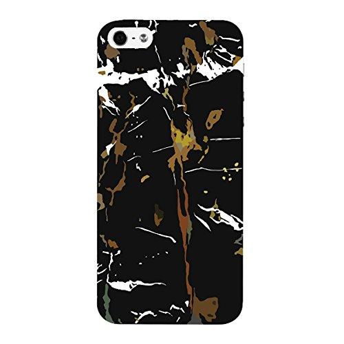 Yokata Ultra Sottile Trasparente Cover per iPhone 5S / 5 / SE Painting Custodia Gel Silicone Molle di Flessibile TPU Morbido Case Protezione Backcover Caso Gomma Bumper Protettiva Shell - Piccola angu Marmo nero