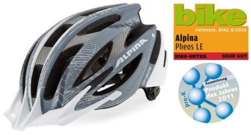 Alpina MTB Helme MTB Pheos L.E. grey/white matt (Kopfumfang: 50-55 cm)