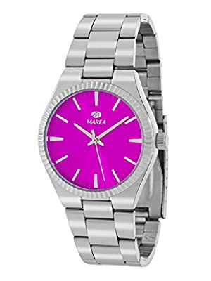 Reloj Marea Mujer B21168/4 Plateado y Rosa Fucsia