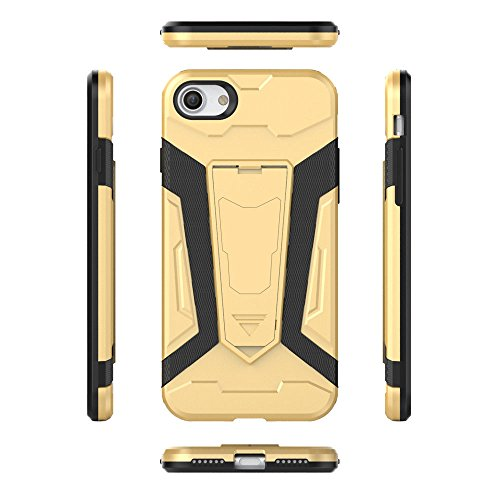 Cover iPhone 7 Custodia iPhone 7 Hard Anfire Belt Clip Holster Kickstand Case Cover per iPhone 7 (4.7 Pollici) Ultra Sottile Liscio Opaco Antiurto Protettivo Bumper Paraurti Rugged Adatta Shell Cassa  Giallo
