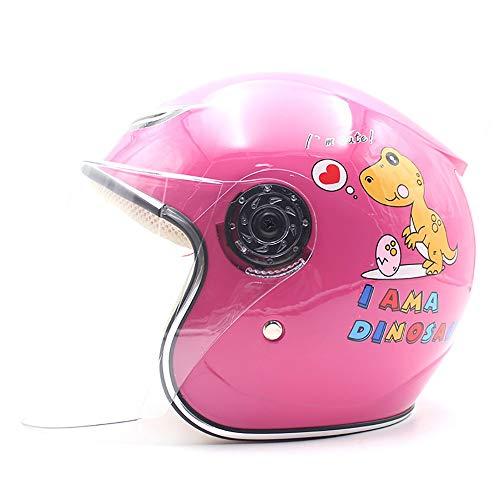YAJAN-helmet Bambino Casco per Bambini,Confortevole e Traspirante Una Guida sicura e Confortevole Casco Moto Jet e Demi-Jet Adatto a Ragazzi Ragazze 47-53cm