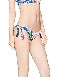 IRIS & LILLY Braguita Bikini de Flores con Lazada para Mujer