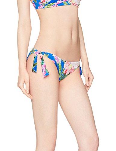 Iris & Lilly Tie-Side Hipster Pant, Slip Bikini Donna, Blu (Multicoloured Large Blue Floral), 12 (Taglia Produttore: Medium)