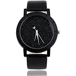 Watch,Alberar Star Minimalist Fashion Watches For Lovers Leather Strap Watch