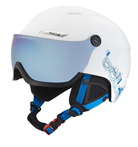 Bollé B-Yond Visor Casco da Sci, Bianco/Blu, 54-58 cm - Casco Blu