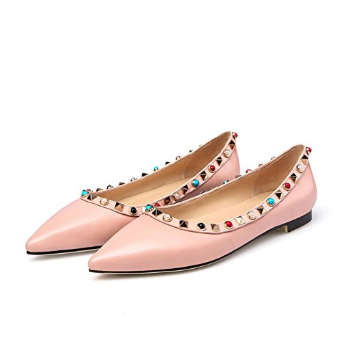 Luce scarpe piatte in primavera/La versione coreana delle scarpe a punta alla moda/Joker scarpe rivetto C