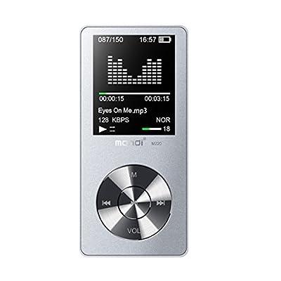 Mymahdi 8 Go MP3 Portable (extensible jusqu'à 128 Go), de musique/une touche de Enregistreur vocal/radio FM 70 heures de avec haut-parleur externe HD, Argent par Weisa Technology Co., Ltd