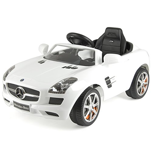 Mercedes-Benz Officially Licensed Kids Electric Ride On Car with LED Headlights and MP3 Connection, SLS