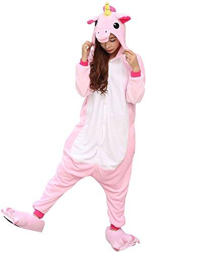 Unisex Onesie Pyjamas Overall Einteiler/Pyjama Schlafanzug Für Erwachsene Pink M